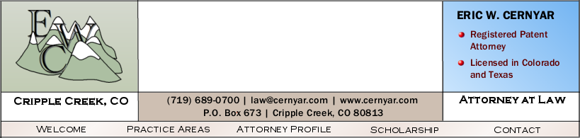 Eric W. Cernyar, Colorado Springs, CO